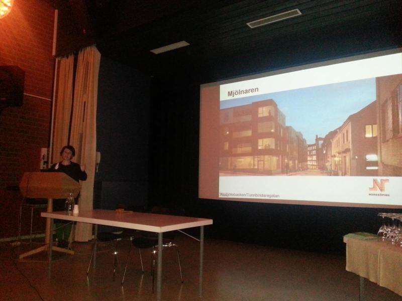 Stadsarkitekt Karin Milles Beier höll föredrag