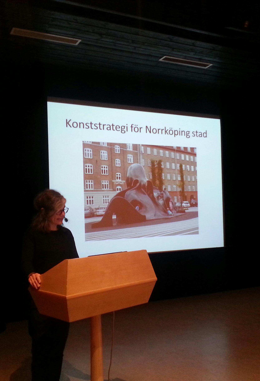 Föreläsning om offentlig konst i Norrköping